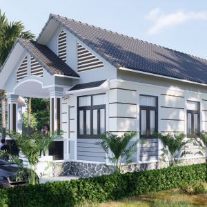 4355 Exterior House Scene Sketchup Model By Tu Minh Sang 2