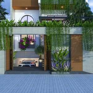 2128 Exterior House Scene Sketchup Model By Trung Nguyen Free Download 2