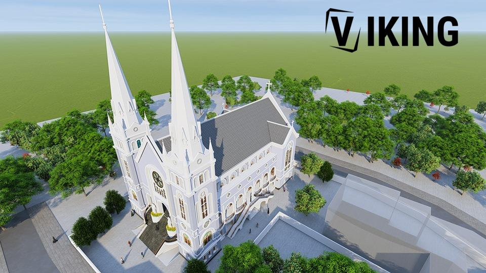 2155 Exterior Churchs Scene Sketchup Model By Tran The Luc Free Download 2