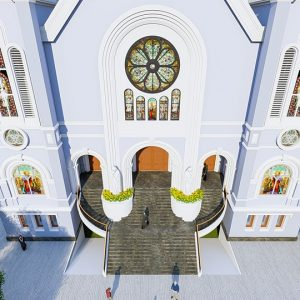 2155 Exterior Churchs Scene Sketchup Model By Tran The Luc Free Download 4