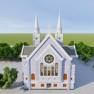 2155 Exterior Churchs Scene Sketchup Model By Tran The Luc Free Download 5