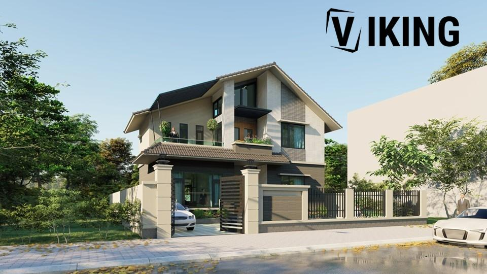 2462 Exterior House Scene Sketchup Model By PhamTinh Free Download