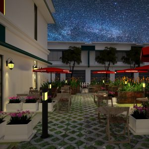 2520 Exterior Coffee Scene Sketchup Model By GinLam Free Download 5