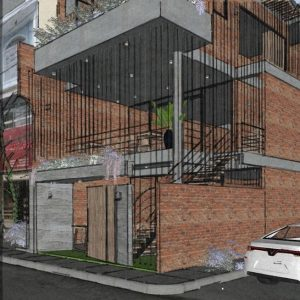 2689 Exterior House Sketchup Model by Lee Min Dung Free Download 3