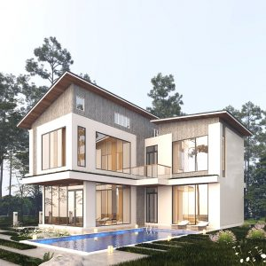 2791 Exterior House Scene Sketchup Model by Ha Anh Free Download 1