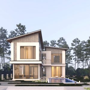 2791 Exterior House Scene Sketchup Model by Ha Anh Free Download 2