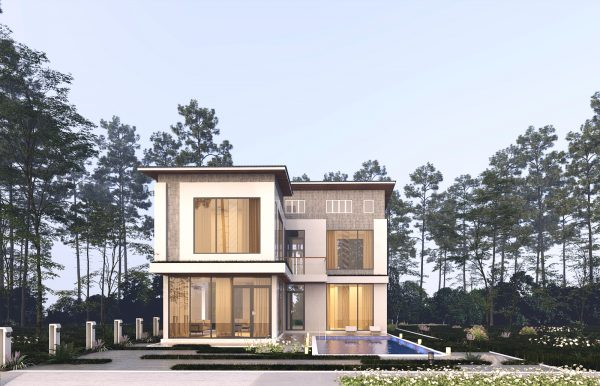 2791 Exterior House Scene Sketchup Model by Ha Anh Free Download 4