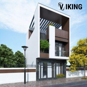 2805 Exterior House Scene Sketchup Model By XuanKhanh Free Download 4