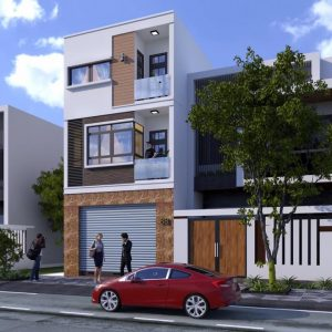 2815 Exterior House Scene Sketchup Model By MinhHoang Free Download 2