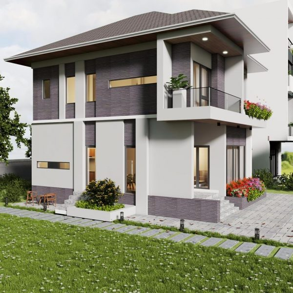 2854 Exterior House Scene Sketchup Model By Co Phong Suong Free Download 1