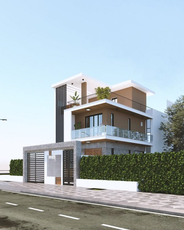 2870 Exterior House Scene Sketchup Model By DiepVinh Free Download 1