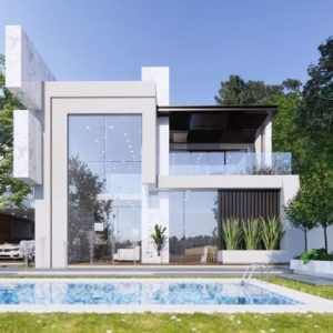 2985 Exterior House Scene Sketchup Model by DatHouzz Free Download 2 768x430 1