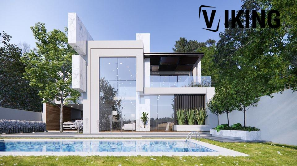 2985 Exterior House Scene Sketchup Model by DatHouzz Free Download 2