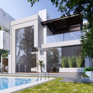 2985 Exterior House Scene Sketchup Model by DatHouzz Free Download 3