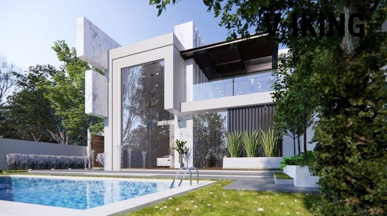 2985 Exterior House Scene Sketchup Model by DatHouzz Free Download 3 768x430 1