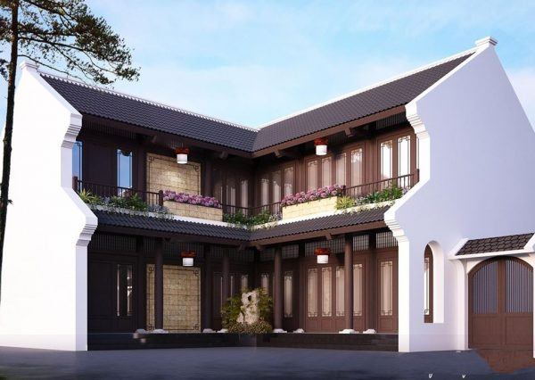 3002 Exterior House Scene Sketchup Model by Kts NguyenChiCong Free Download