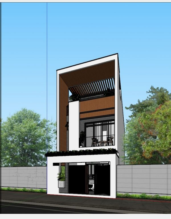 3003 Exterior House Scene Sketchup Model by Thanh Nguyen Free Download 1 1