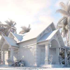 3004 Exterior House Scene Sketchup Model by Ngan Nguyen Free Download 2