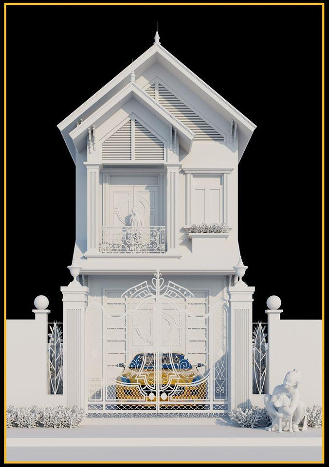 3027 Exterior House Scene Sketchup Model by ToanNguyen Free Download