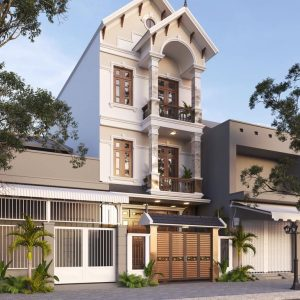 3032 Exterior House Scene Sketchup Model by Kts NguyenViet Free Download