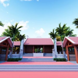 3043 Exterior Churchs Scene Sketchup Model by PhamHuy Free Download 2