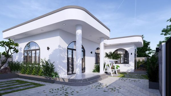 3047 Exterior House Scene Sketchup Model by PhamThanhCong Free Download 1