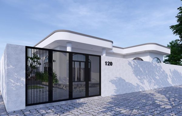 3047 Exterior House Scene Sketchup Model by PhamThanhCong Free Download 4