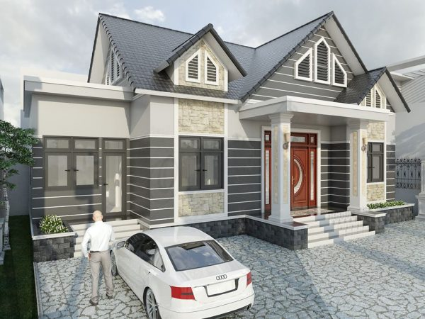 3082 Exterior House Scene Sketchup File free download by Atonio Ly 2