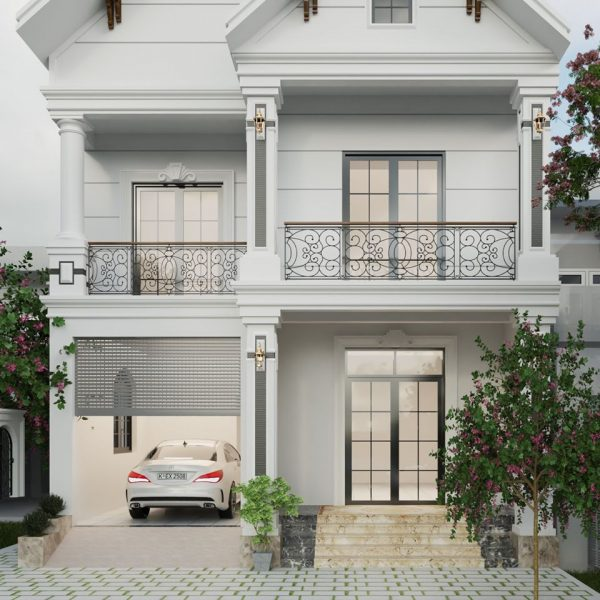 3087 Exterior House Scene Sketchup Model by Tee Tran Free Download 2w