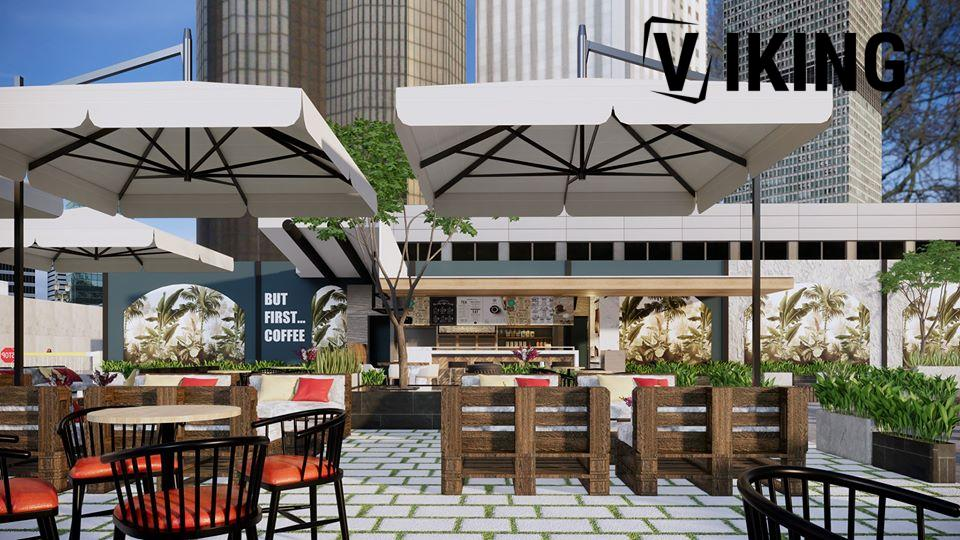 3311 Exterior Coffee room Scene Sketchup Model by DuongDuong Free Download 5