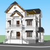 3351 Exterior Villa Scene Sketchup Model By Duy L Free Download