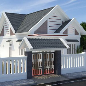 3374 Exterior House Scene Sketchup Model By NgocAnhCao Free Download 1.1