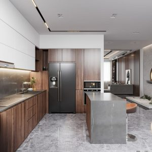 3569.Kitchen – Livingroom Scene 3dsmax File free download by Huynh Arc 4
