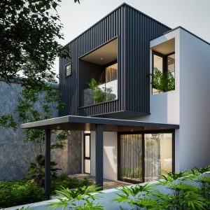 3612 Exterior House Scene Sketchup Model By Quoc Vi Phan 1