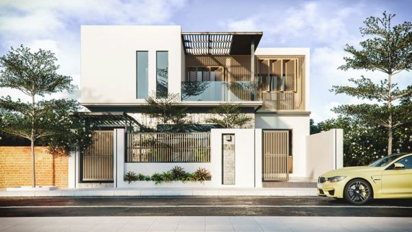 3634 Exterior House Scene Sketchup Model By NguyenNghia 1