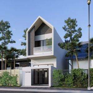 3834 Exterior House Scene Sketchup Model By DuongDuong 2