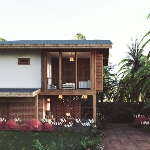 3863 Exterior House Scene Sketchup Model By Chi Cong Le 1