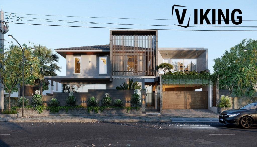 3977 Exterior House Scene Sketchup Model By DatHouzz
