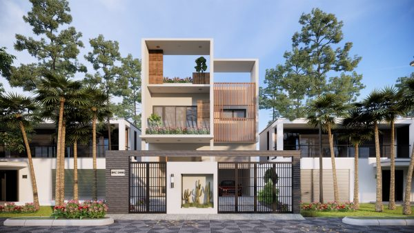 3992 Exterior House Scene Sketchup Model by Duong Duong 1