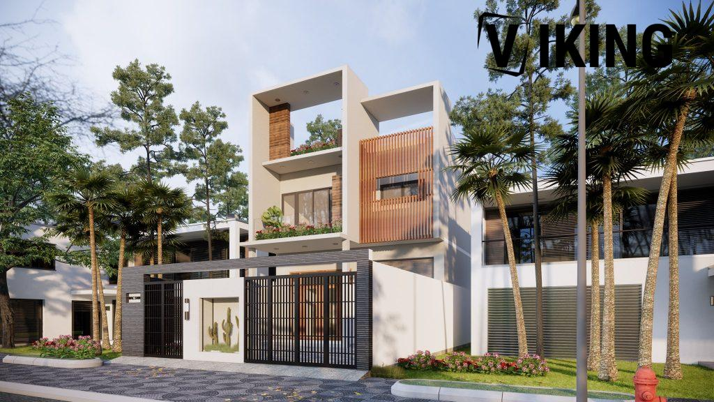 3992 Exterior House Scene Sketchup Model by Duong Duong 2