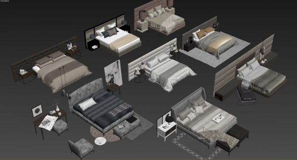 3D Bed Model 144 Free Download by DoanNguyen scaled 1