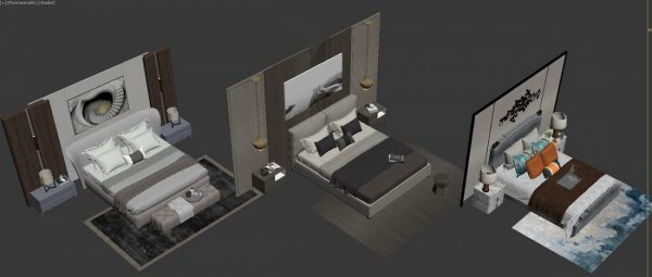 3D Bed Model 145 Free Download By DoanNguyen scaled 1