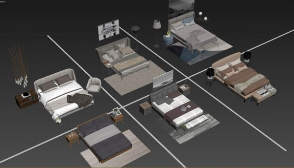 3D Bed Model 147 Free Download By DoanNguyen scaled 1