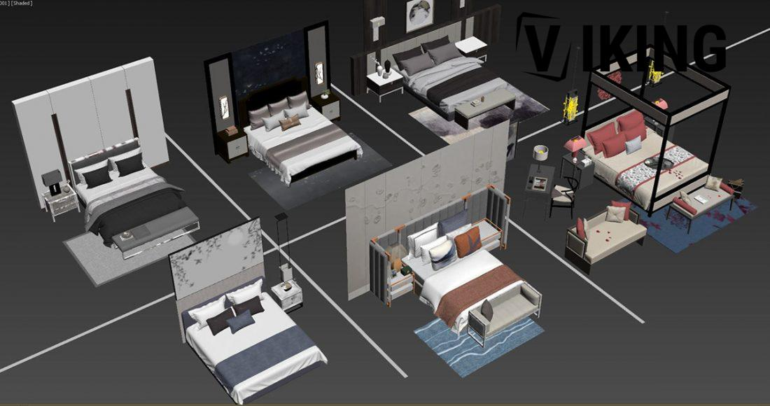 3D Bed Model 151 Free Download By DoanNguyen scaled 1