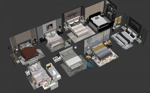 3D Bed Model 189 Free Download By LyVuongNhutMinh 2 1