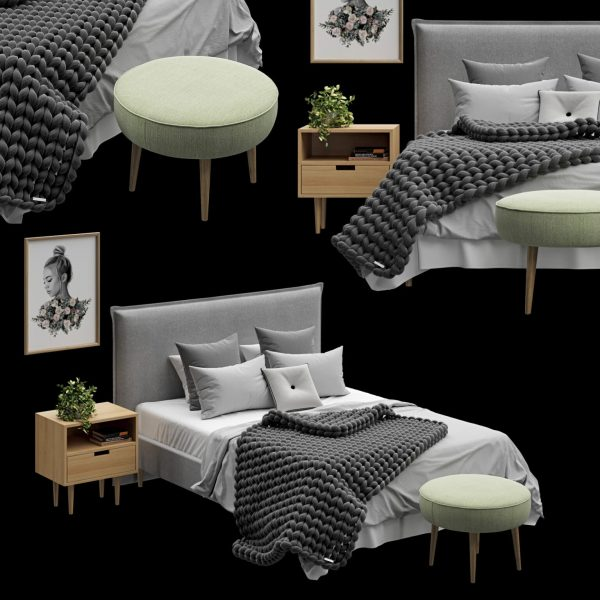 3D Bed Model 191 Free Download 1536x1536 1