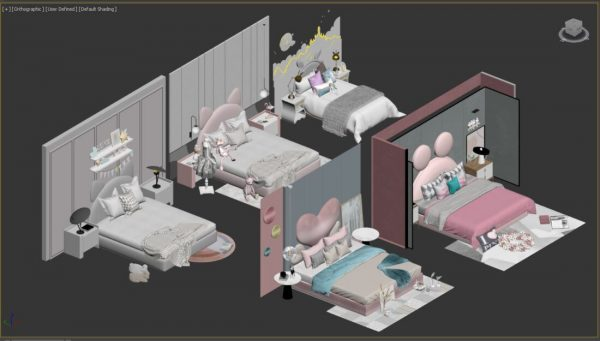 3D Bed Model 200 Free Download By Phan Thanh Duong scaled 1