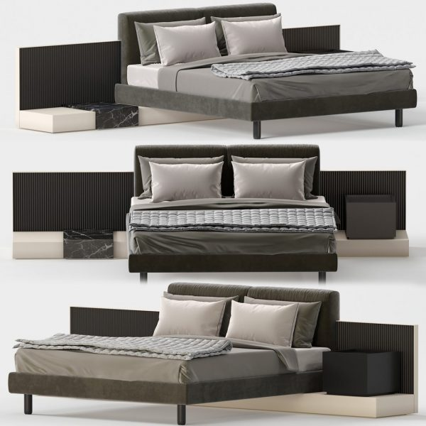3D Bed Model Meridiani Cliff 141 Free Download 1