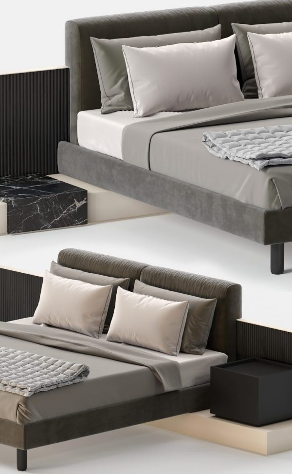 3D Bed Model Meridiani Cliff 141 Free Download 2 768x1246 1