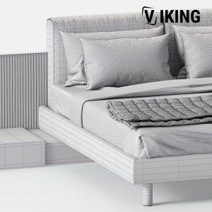 3D Bed Model Meridiani Cliff 141 Free Download 3 768x768 1
